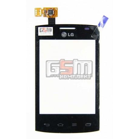 Тачскрин для LG E410 Optimus L1x II, черный