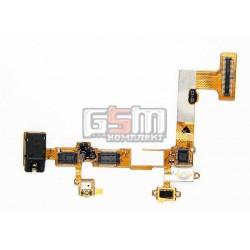 Коннектор handsfree для LG P700 Optimus L7, P705 Optimus L7, со шлейфом, с микрофоном