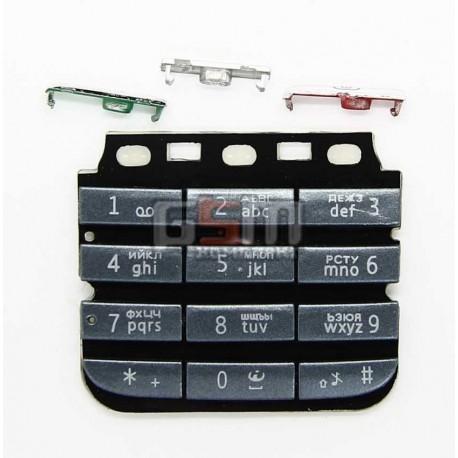 Клавиатура для Nokia 300 Asha, черный, русская, верхняя, нижняя