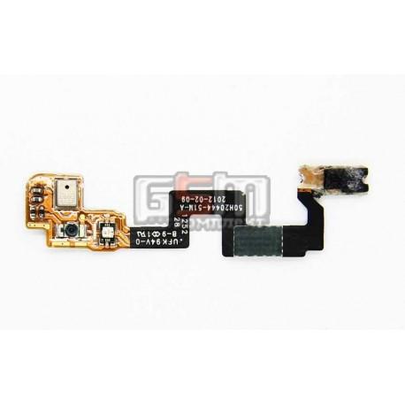 Шлейф для HTC G23, S720e One X, кнопки включения, датчика приближения, с компонентами