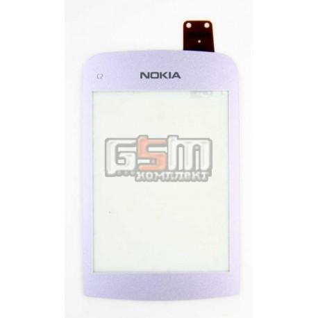 Тачскрин для Nokia C2-02, C2-03, C2-06, C2-07, C2-08, фиолетовый