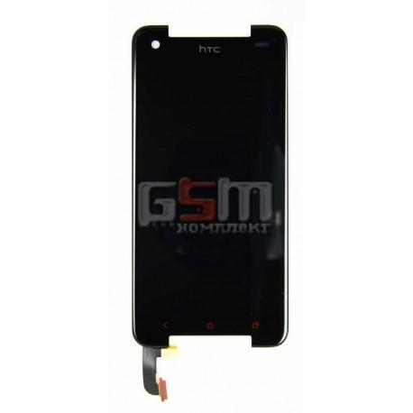 Дисплей для HTC 901e Butterfly S, 901s Butterfly S, черный, с сенсорным экраном (дисплейный модуль)
