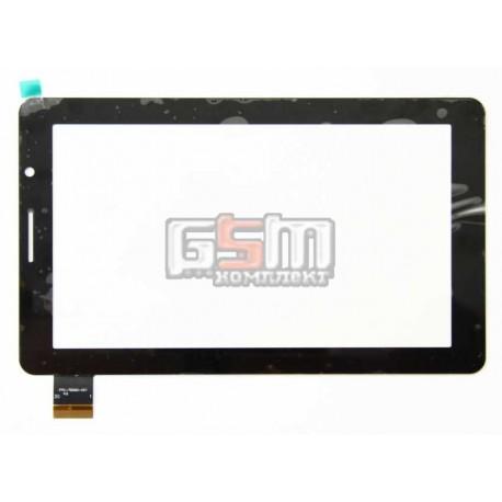 Тачскрін (сенсорний екран, сенсор) для китайського планшету 7, 30 pin, с маркировкой FPC-760A0-V01 KQ, FPC-0760A0-V01, FPC-708A0-V03, GT70PG124 SLR для Bassoon P1000, размер 182*108 мм, черный