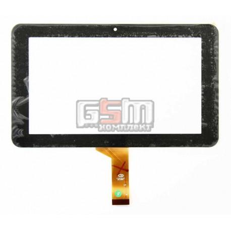 """Tачскрин (сенсорный экран, сенсор) для китайского планшета 7"""", 30 pin, с маркировкой FM707001KC, размер 186*111 мм, черный"""