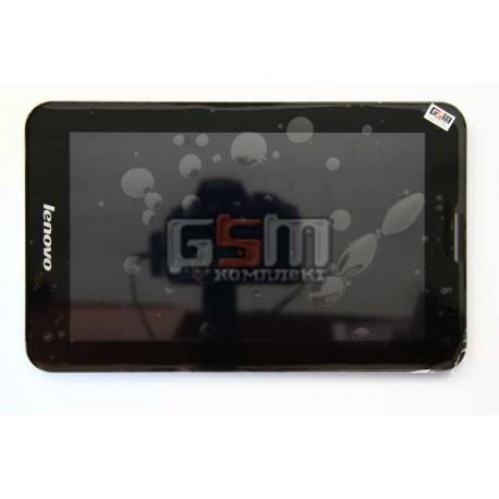 Дисплей для Lenovo IdeaTab A3000, с cенсорным экраном, в рамке, черный
