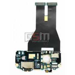 Шлейф для HTC G14, G18, Z710e Sensation, Z715e Sensation XE, камеры, динамика, кнопки включения, коннектора наушников, с компонентами