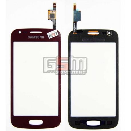 Тачскрин для Samsung S7270 Galaxy Ace 3, S7272 Galaxy Ace 3 Duos, красный
