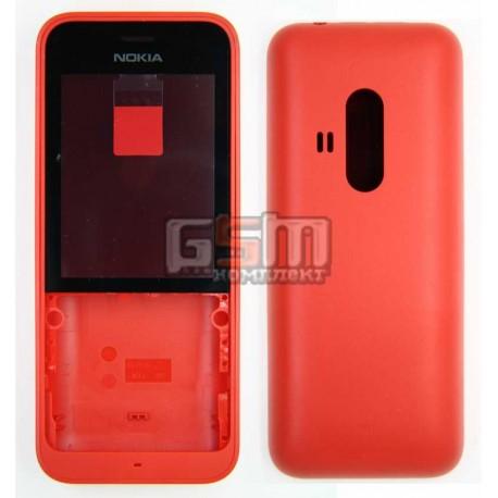 Корпус для Nokia 220 Dual SIM, красный