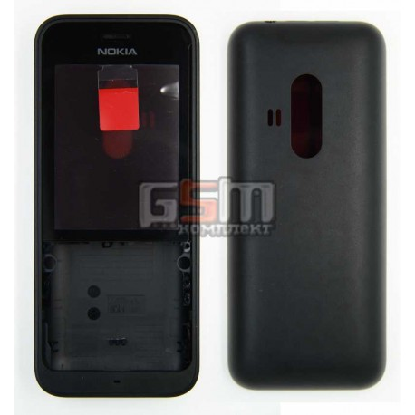 Корпус для Nokia 220 Dual SIM, чорний