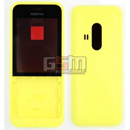 Корпус для Nokia 220 Dual SIM, желтый