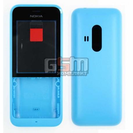 Корпус для Nokia 220 Dual SIM, синий
