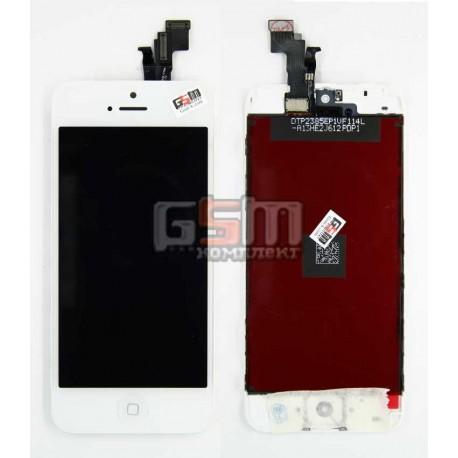 Дисплей для Apple iPhone 5C, білий, з тачскріном, модуль
