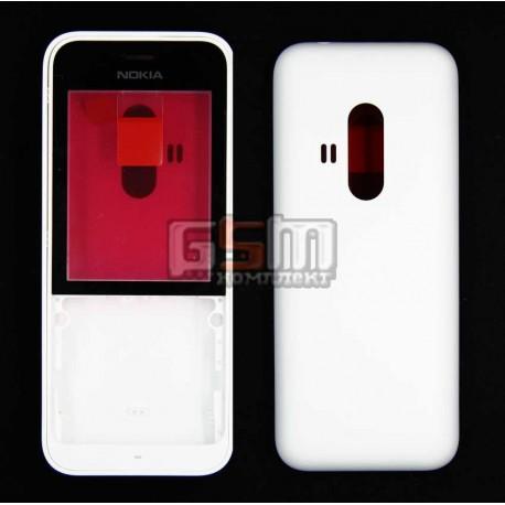 Корпус для Nokia 220 Dual SIM, білий