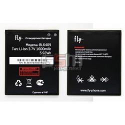 АккумуляторBL6409дляFlyIQ4406,оригинал,(Li-ion3.7V1600mAh),(H-7201-BSK11B00-H00/3.H-5507-BK1100-000/3.H-7201-BSK11B00-H
