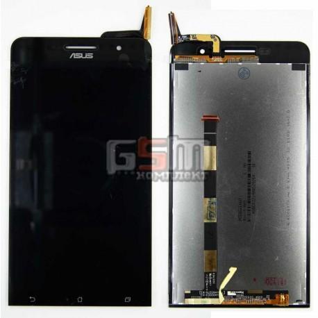 Дисплей для Asus ZenFone 6 (A600CG), ZenFone 6 (A601CG), черный, с сенсорным экраном (дисплейный модуль)