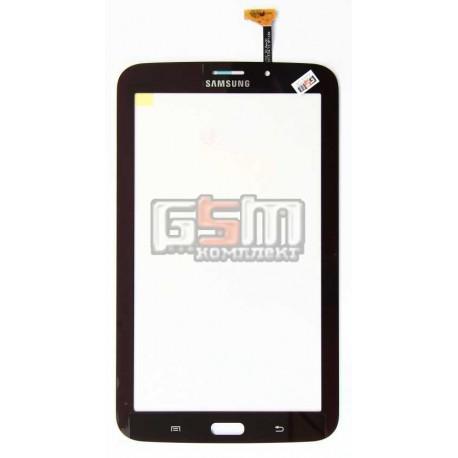 Тачскрін для планшету Samsung P3200 Galaxy Tab3, P3210 Galaxy Tab 3, T210, T2100 Galaxy Tab 3, T2110 Galaxy Tab 3, бронзовий, (версія 3G)