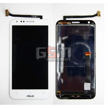 Дисплей для Asus PadFone 2 A68, белый, с тачскрином