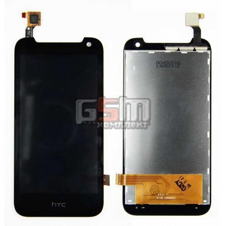 Дисплей для HTC Desire 310 Dual Sim, черный, с сенсорным экраном (дисплейный модуль), (127*63)