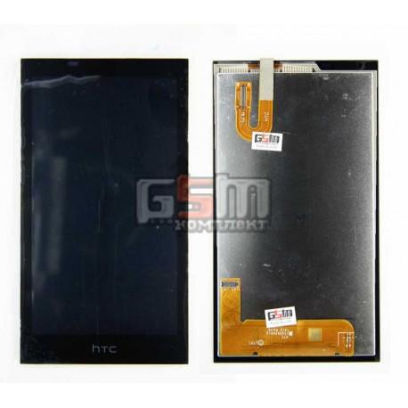 Дисплей для HTC Desire 610, черный, с сенсорным экраном (дисплейный модуль)