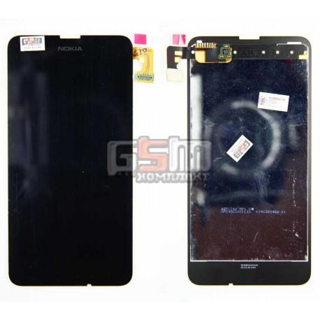 Дисплей для Nokia 630 Lumia Dual Sim, черный, с сенсорным экраном
