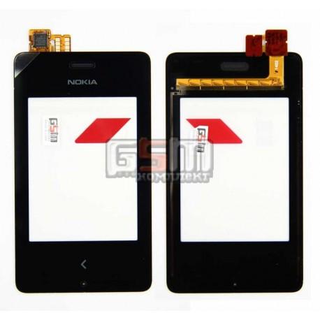 Тачскрін для Nokia 500 Asha Dual Sim, чорний
