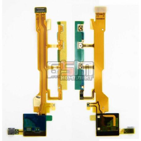 Шлейф для Sony C6602 L36h Xperia Z, C6603 L36i Xperia Z, C6606 L36a Xperia Z, кнопки включения, боковых клавиш, с компонентами,