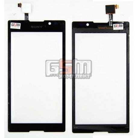 Тачскрин для Sony C2305 S39h Xperia C, черный