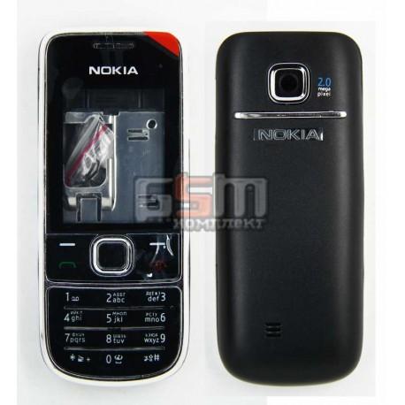 Корпус для Nokia 2700c, копия AAA, серый, с клавиатурой