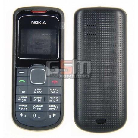 Корпус для Nokia 1202, черный, high-copy, с клавиатурой