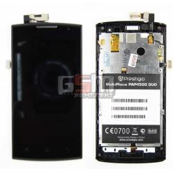 Дисплей для Prestigio MultiPhone 4500 Duo, с сенсорным экраном (дисплейный модуль), с передней панелью