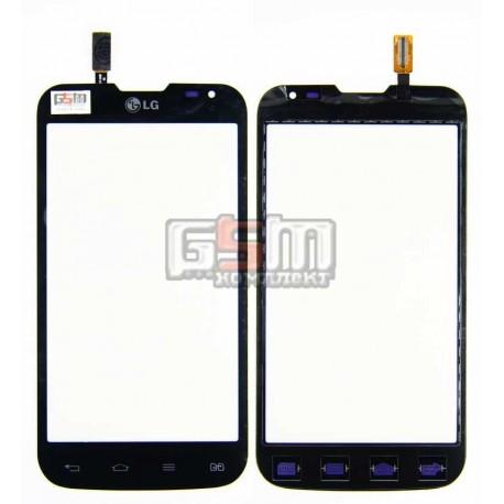 Тачскрін для LG D325 Optimus L70 Dual SIM, чорний, (124*64мм)