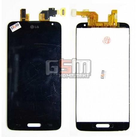 Дисплей для LG D405 Optimus L90, D415 Optimus L90, черный, с тачскрином (модуль)