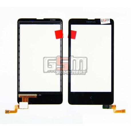 Тачскрин для Nokia X Dual Sim, черный, copy