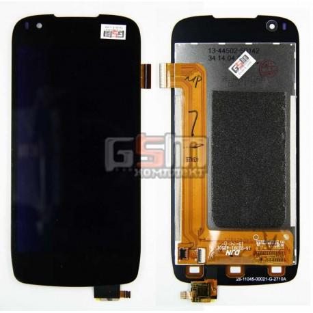Дисплей для Fly IQ4405, черный, original, с сенсорным экраном (дисплейный модуль), 39 pin, #G4530020067LA/G4530020061LA/15-22391