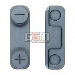 Пластик бокових кнопок гучності для Apple iPhone 5,чорний
