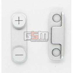 Пластик бокових кнопок гучності для Apple iPhone 5, сріблястий