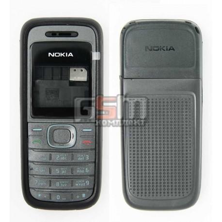 Корпус для Nokia 1208, черный, копия ААА, с клавиатурой
