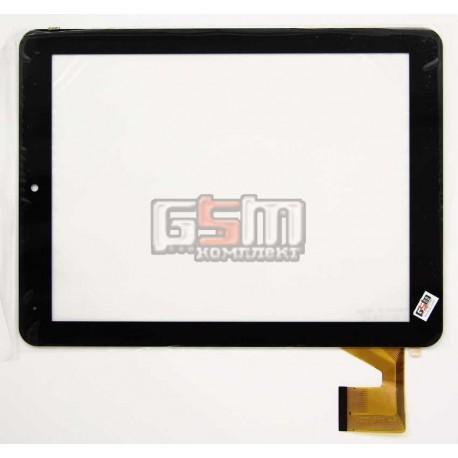 """Tачскрин (сенсорный экран, сенсор) для китайского планшета 8"""", 40 pin, с маркировкой YDT1215-A0, размер 193*145 мм, черный"""