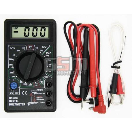 Мультиметр DT-838 с прозвонкой и измерением температуры
