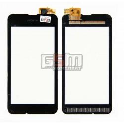 Тачскрин для Nokia 530 Lumia, черный, #CHIPONE ICN8512F.H/5562H-FPC-4