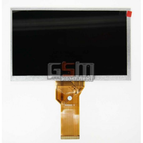 "Экран (дисплей, монитор, LCD) для китайского планшета 7"", 50 pin, с маркировкой 20000600-12, AT070TN93 V.2, AA0700015201, размер"