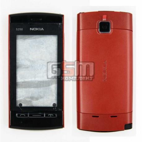 Корпус для Nokia 5250, красный, копия ААА