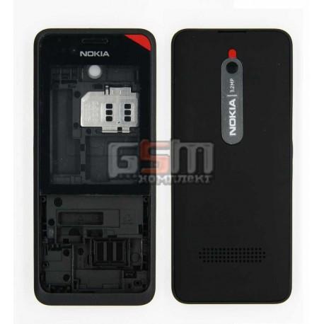 Корпус для Nokia 301, черный
