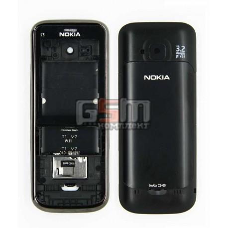 Корпус для Nokia C5-00, копия AAA, черный