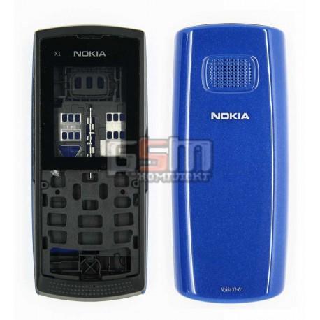 Корпус для Nokia X1-01, синий, high-copy