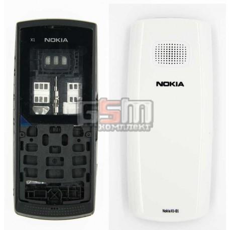 Корпус для Nokia X1-01, белый, копия ААА
