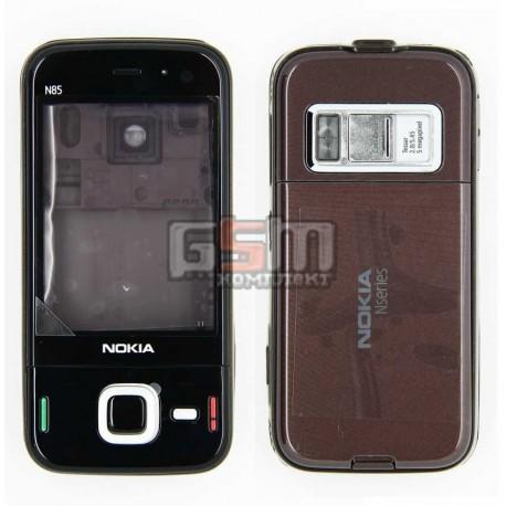 Корпус для Nokia N85, коричневый, копия ААА
