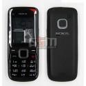 Корпус для Nokia C1-01, копия AAA, черный с калвиатурой