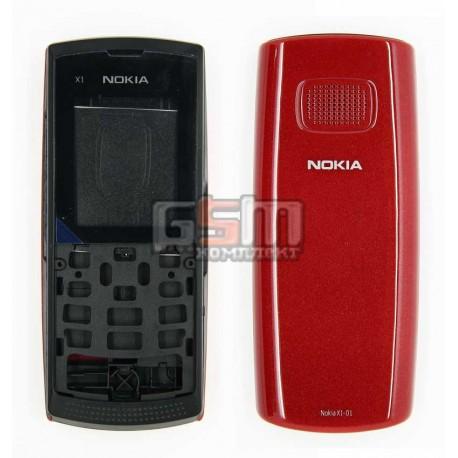 Корпус для Nokia X1-01, high-copy, червоний
