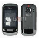 Корпус для Nokia C2-03, черный, копия ААА